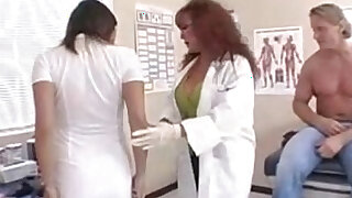 patient fucks hit busty milf nurse and doctor