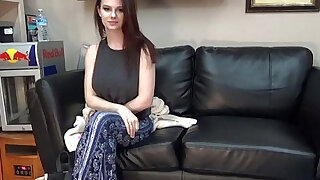 Convincing san diego college student to do porn on casting couch