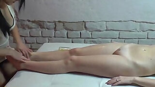 Lesbian massage by two 19yo czech amateur hotties
