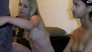 Hot German Threesome session with Teens Cum on Her Face