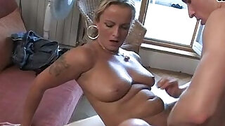 Four horny lesbian milfs with big natural