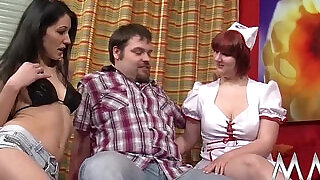 MMV FILMS Amateur couple fuck each other with creampie