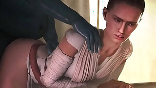 Star Wars Rey Daisy Ridley Animated Compilation