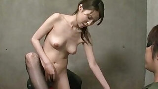 Rino Asuka plays with their toys deep down her hairy cherry