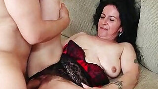Hairy pussy gets black cock fuck