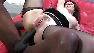 Big butt babe takes big black cock up the ass