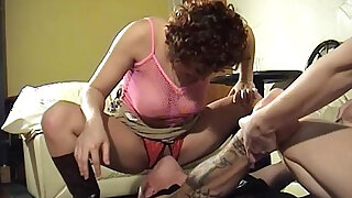Man smothered by pussy and asshole