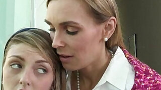 Tanya Tate shared with pretty Staci Silverstone in bed