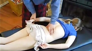 Dad massage daughter fucked her