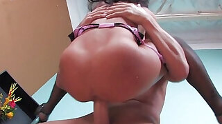 Asa Akira Gets shaved pussy Pounded!