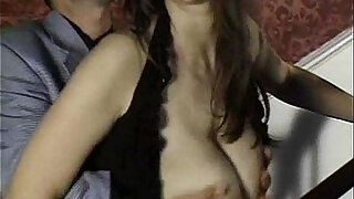 Brunette girl with natural titties
