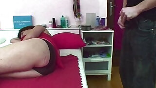 Jerking Stepson Caught And Fucked By Mom