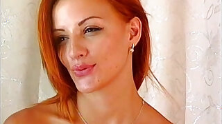 Hot sexy redhead fingering herself
