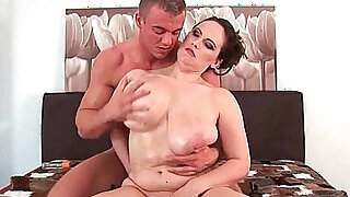 Willing moms love cum on their tits and face