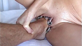 Hardcore anal Fuck with Foot Fistfuck Fisting and Footing