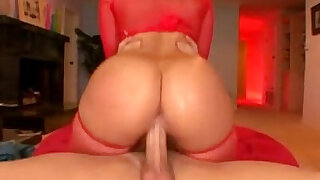 Alexis Texas lingerie red